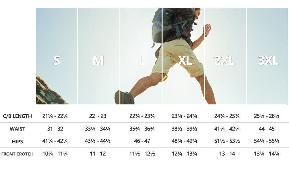 bermuda cargo shorts size