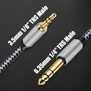 3.5mm to 6.35mm Stereo Audio Cable
