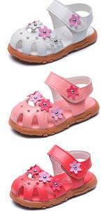 Girls Flowers Sports Sandals