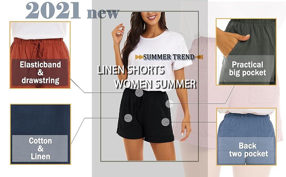 shorts women summer