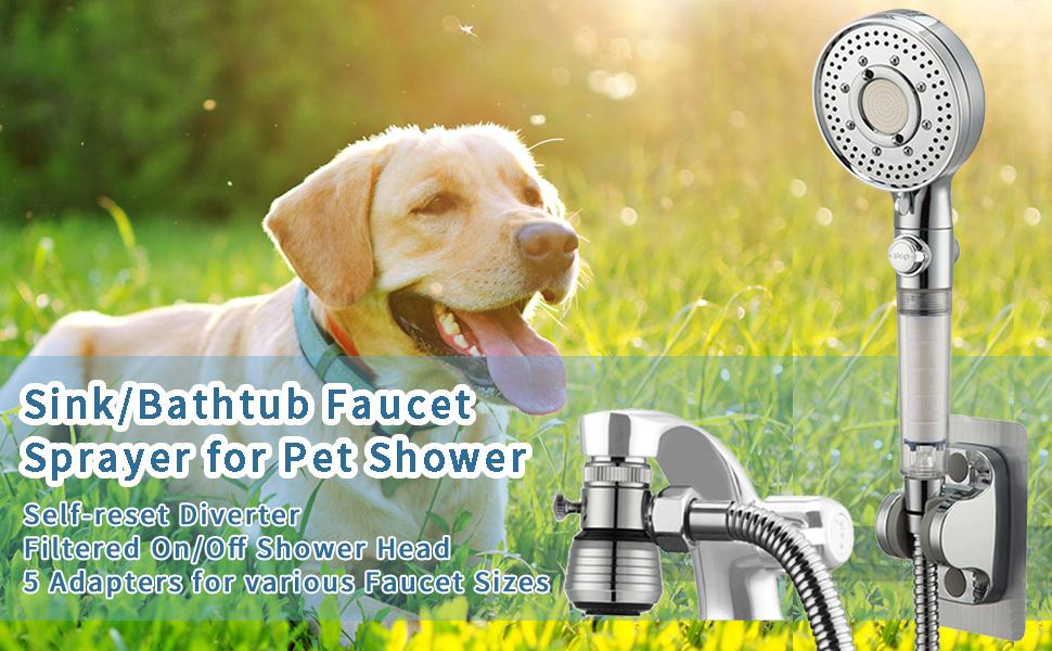dog washing spray hose attachment for sink and bathtub