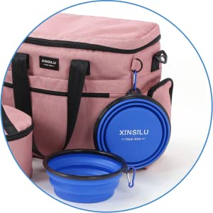 2X SILICONE COLLAPSIBLE FOOD/WATER BOWLS