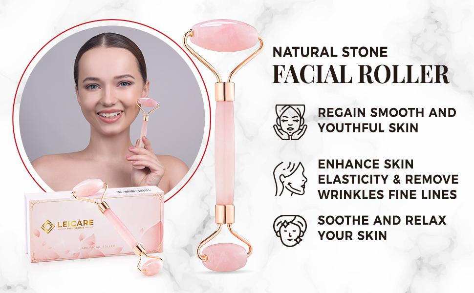 Facial roller regain smooth and youthful skin
