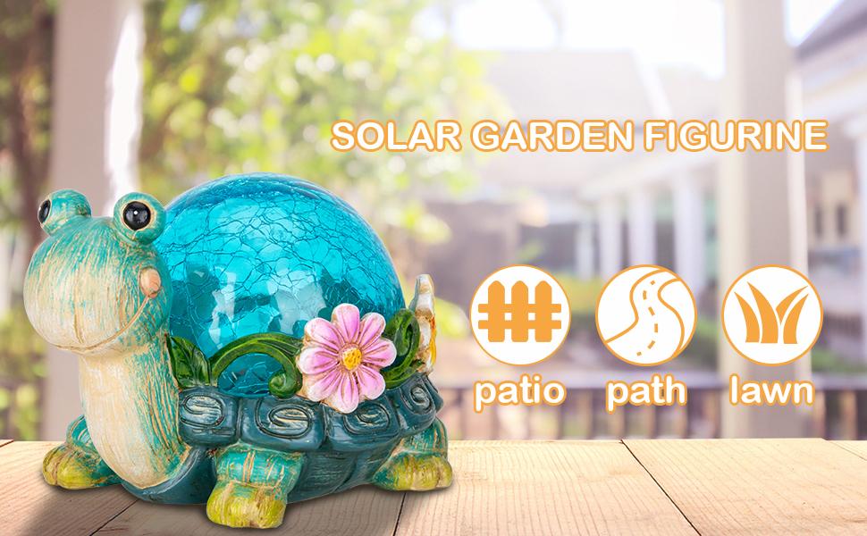 solar garden statue