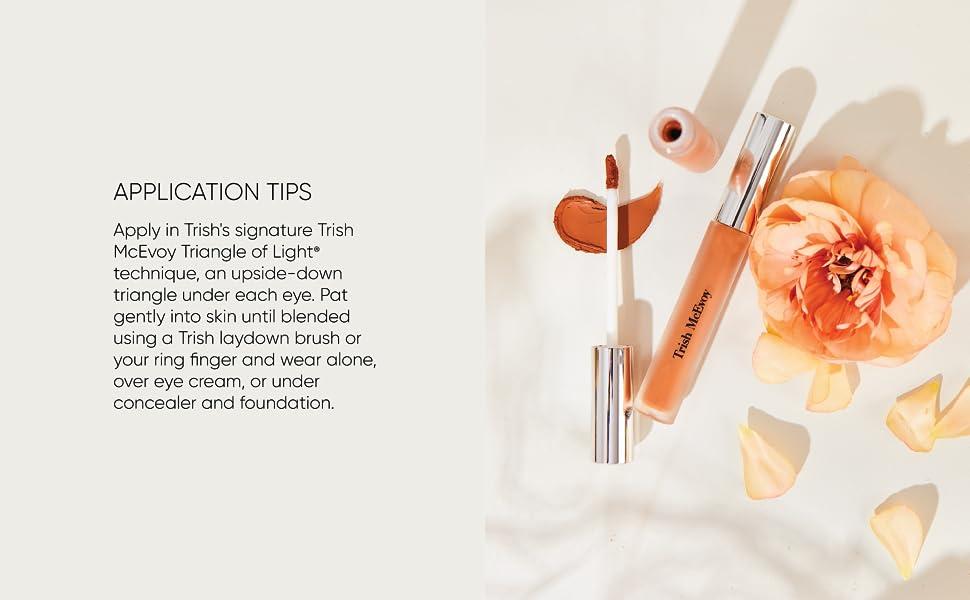 trish mcevoy instant eye lift application tips