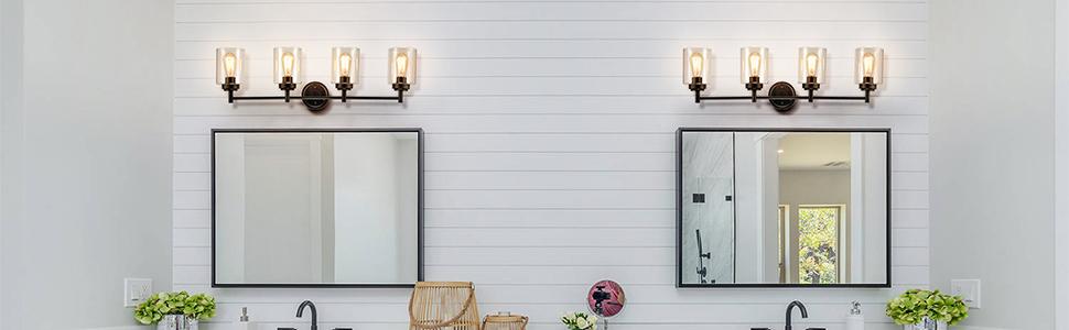 4-light bath vanity light fixture