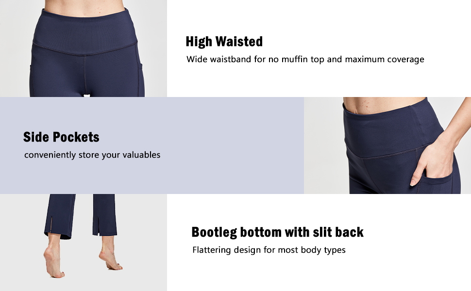BALEAF Bootleg Yoga Pants