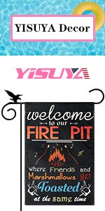 YISUYA welcome to our fire pit summer garden flag