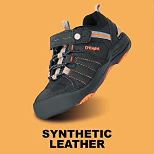 Synthetic leather hiking shoes