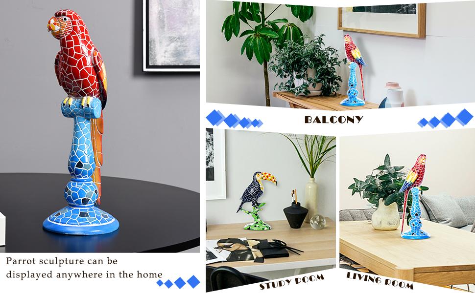 bird figurines home decor