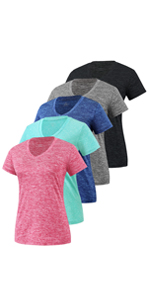 dry fit t-shirts for women 5 pack