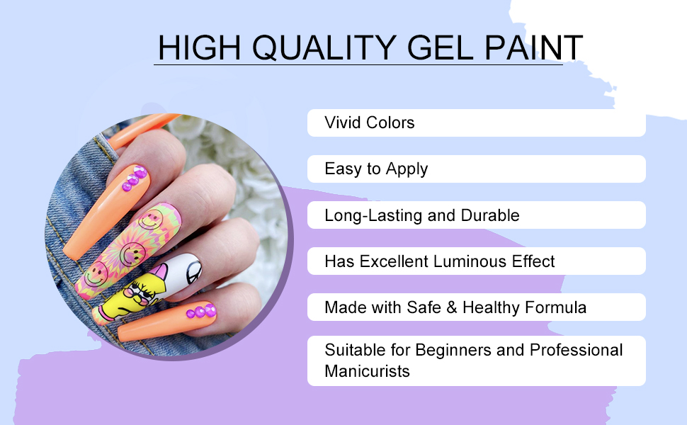 2 gel pait for nail art