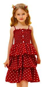 A-Line Tiered Chiffon Polka Dot Cupcake Dress