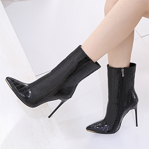 Womenamp;amp;#39;s Heeled Boots Stiletto Booties Sexy Dress High Heel Mid Calf Ankle Boots