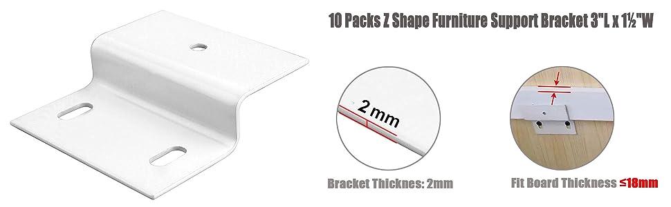 Z Shape Furniture Support Bracket