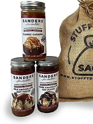 Sanders 10 Ounce Chocolate Caramel Dark Chocolate Gift Sack