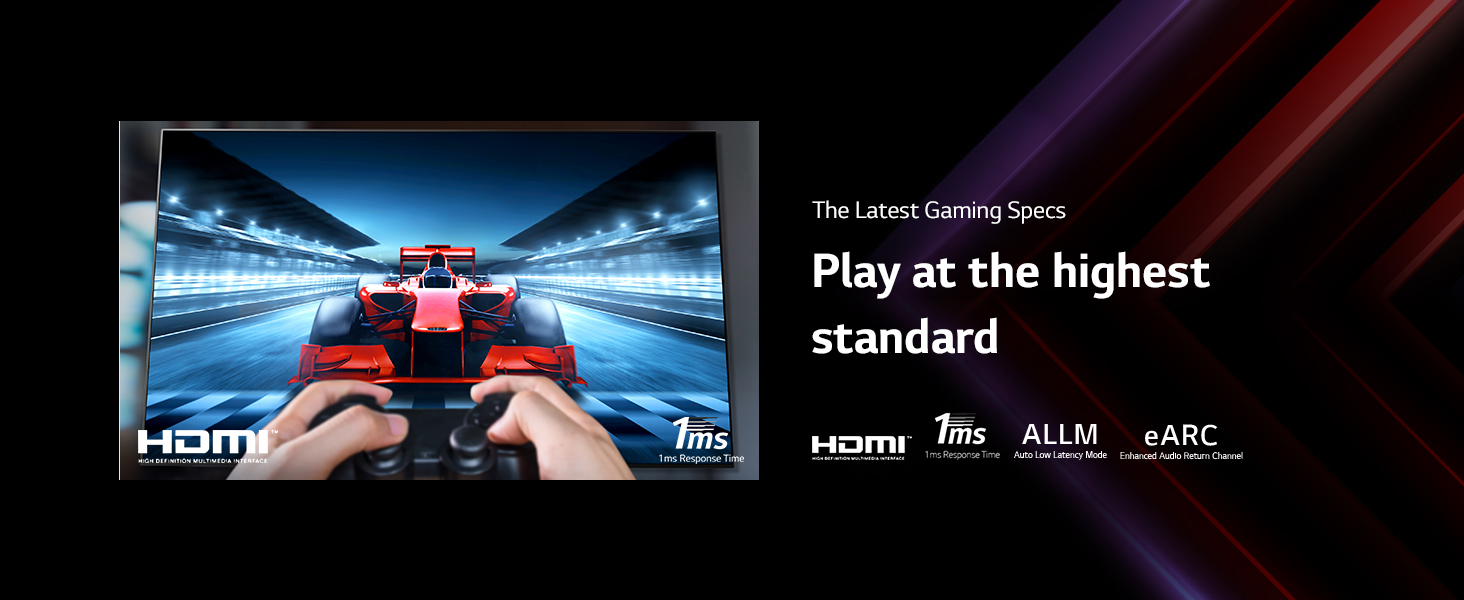 play high end game with LG tv