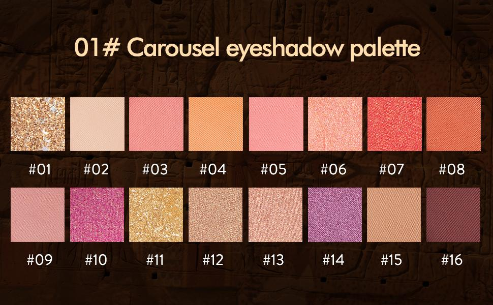 01# Carousel Eyeshadow Palette Color Shows