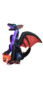 Halloween inflatable dragon