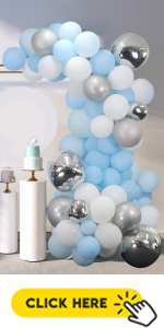 blue balloons garland arch kit for baby shower birthday party graduations