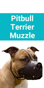 CollarDirect Pit Bull Pitbull Terrier Secure Basket Dog Muzzle Genuine Leather Staffordshire