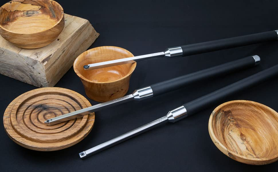 Carbide Turning Tools for Wood Lathe Rougher Scraper Finisher Detailer