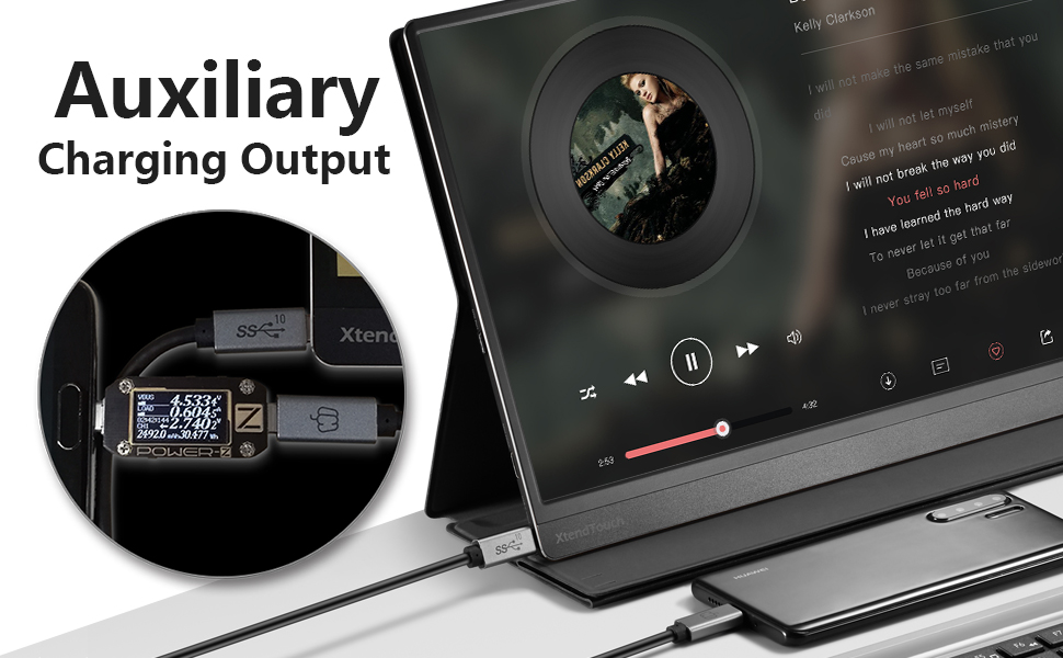 auxiliary charging output