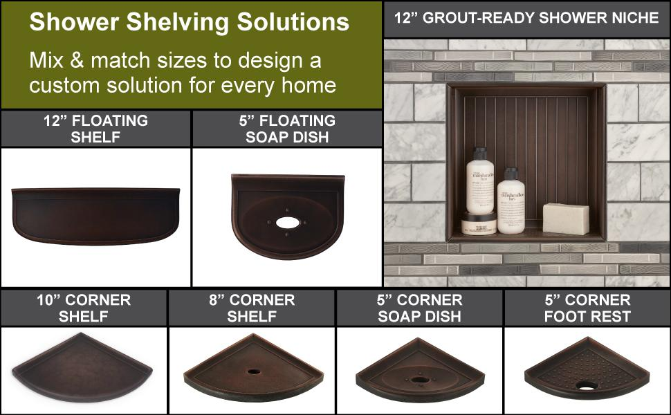 Shower shelf organization