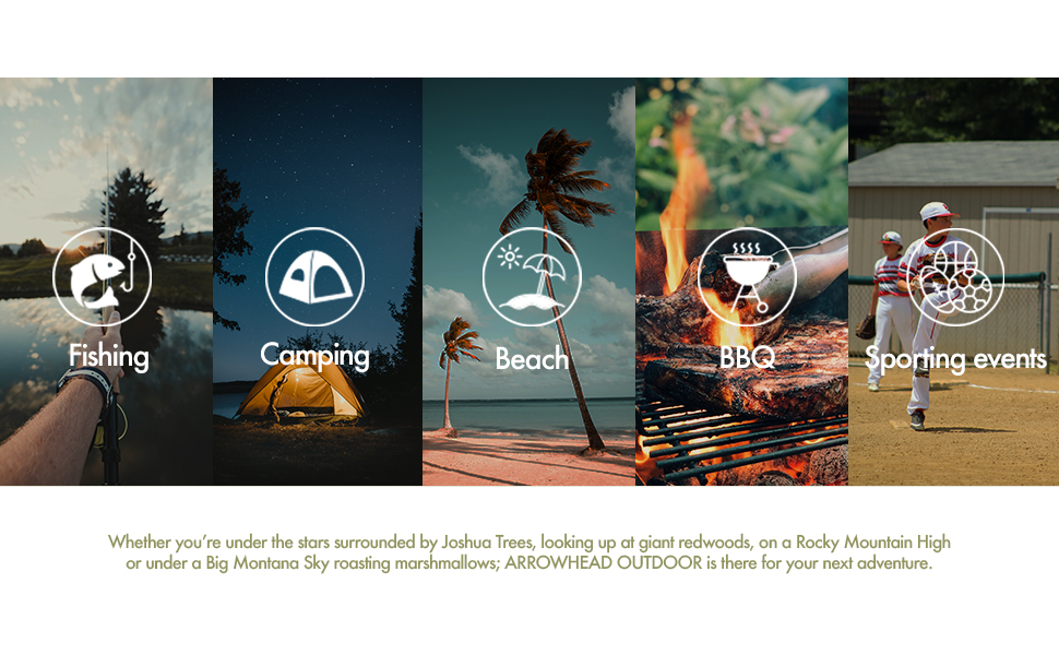 fishing, camping, beach, outdoors, BBQ, sporting events