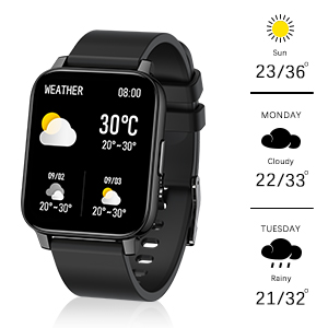 1.69 inch full touchscreen smart watch,smart watch, fitness tracker with heart rate monitor,