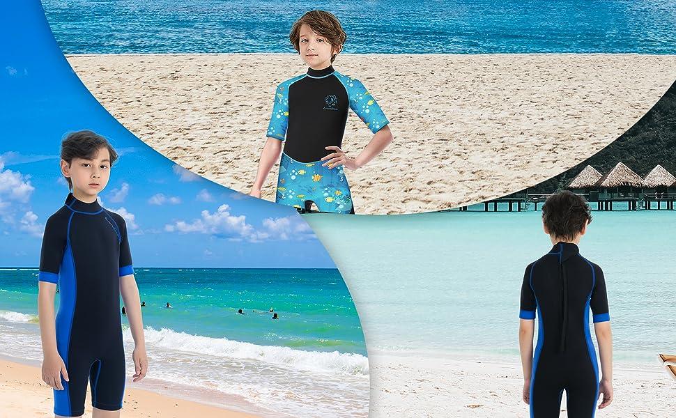 kids swimwear neoprene 3mm wet suit