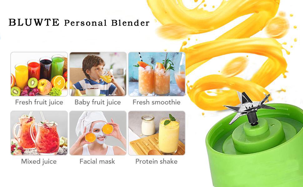 BLUWTE  Portable Juicer  drinking blender  mini blender small blender