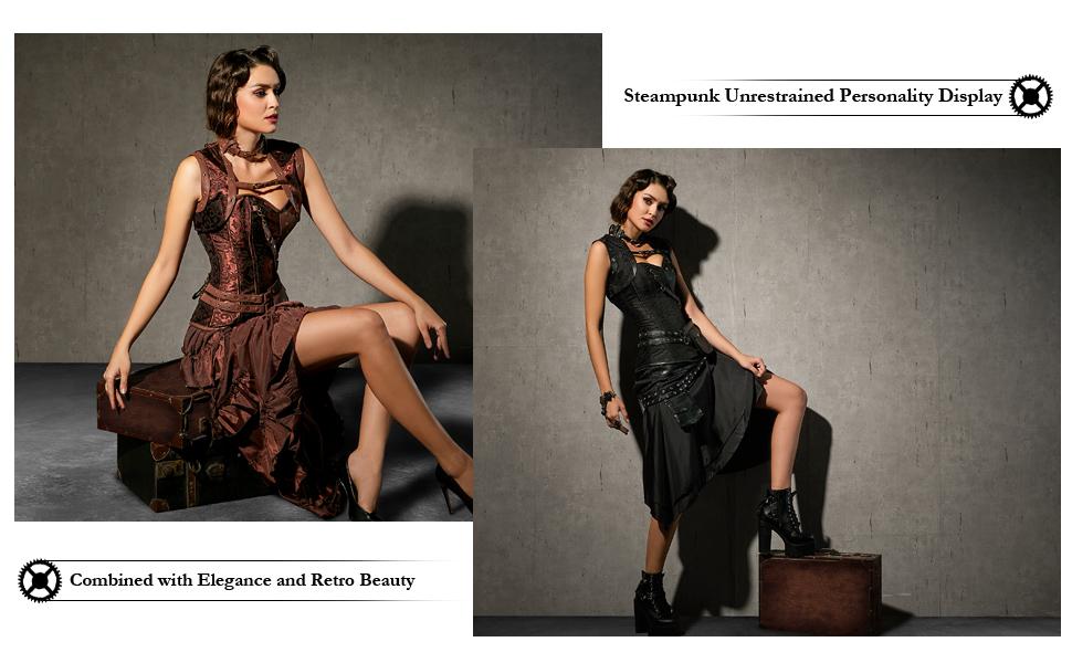 Charmian Steampunk Corset Model Show