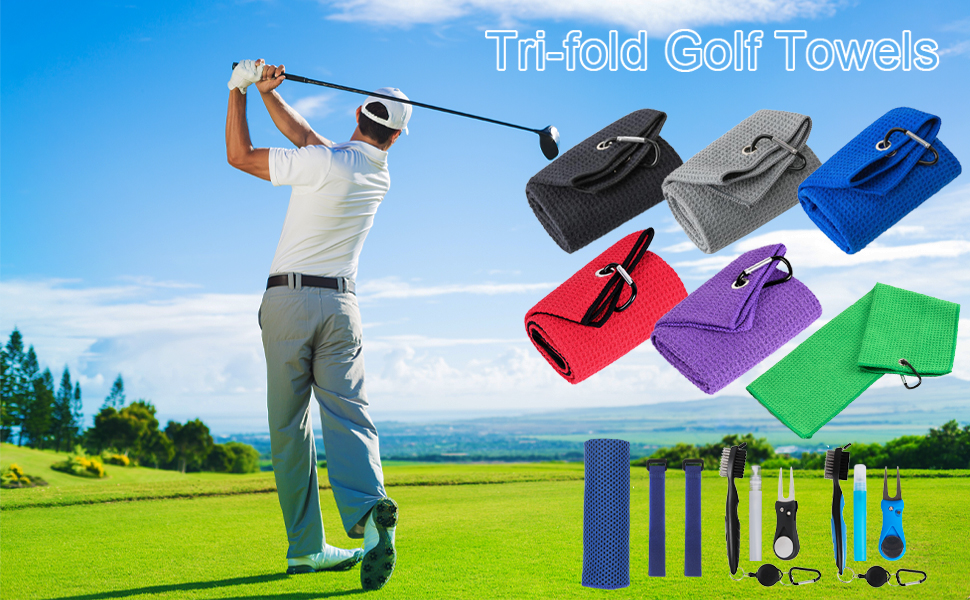 Microfiber Waffle Pattern Golf Cleaning Towel