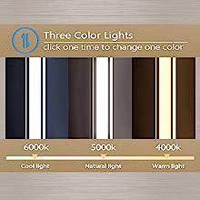 LED Bathroom Mirror: 3 Colors