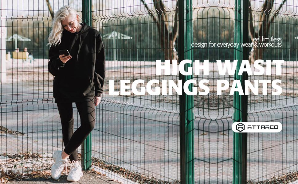 womens high waist leggings with pockets