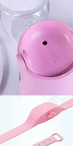 Pet Collapsible Water Bottle with Pine Hand Sanitizer Bracele