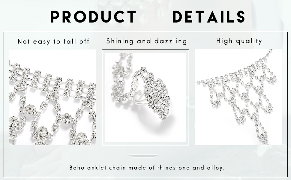 crystal foot chain
