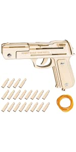 Decorlife IMI Desert Eagle Semi-Auto Pistol Puzzles B08NSSCJ56