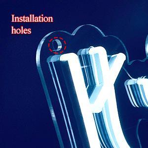 Installation holes