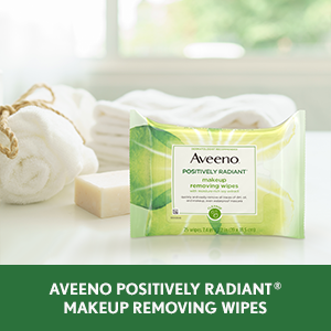 Aveneo Positively Radiant Makeup Removing Face Wipes for makeup, dirt and oil that can dull skin