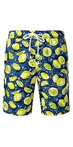 mens hawaiian swim shorts quick dry beach Fun Fruit Printed shorts