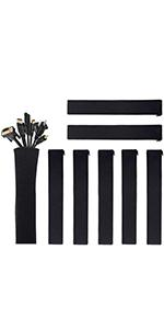 """(8 Pcs) 19-20"""" Cable Management Sleeves with Zipper"""