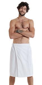 Men Bamboo Cotton Towel Wrap