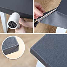 White Grey Contact Paper Corner Installation