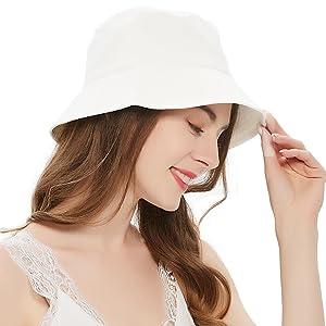 White Bucket hat cute bucket hats