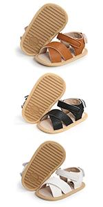 Infant Baby Girls Boys Sandals Leather Non Slip Rubber Soft Sole Toddler Walker Summer Beach Shoes