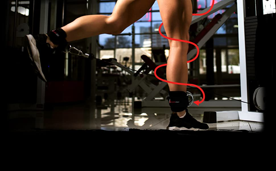 ankle straps for cable machine exercises