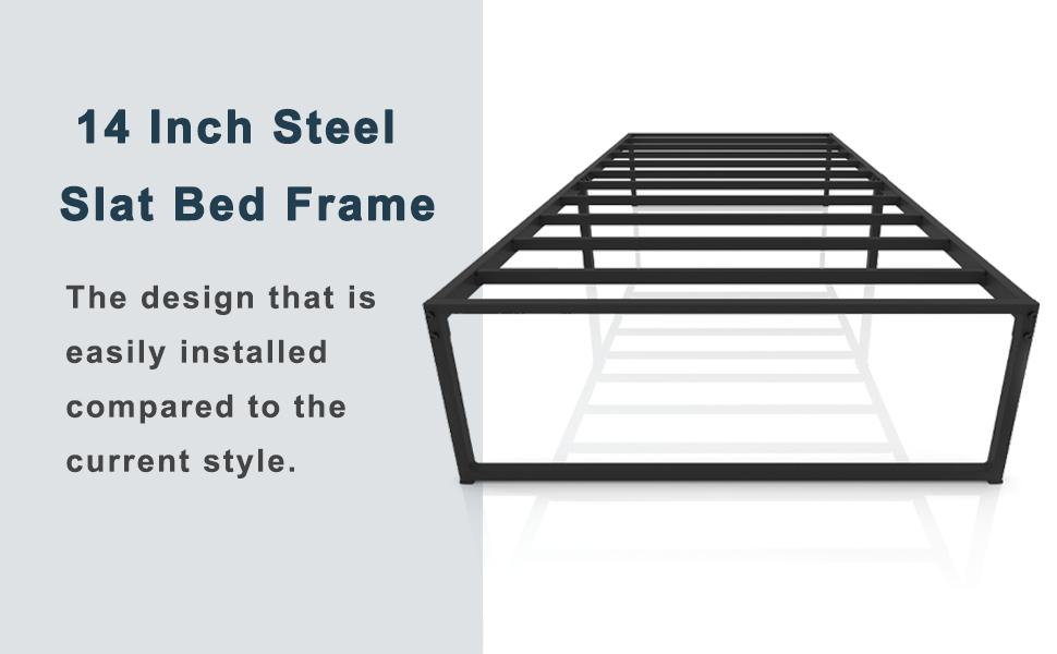 Contemporary bed with storage the bed frame offers ample under you bed super easy