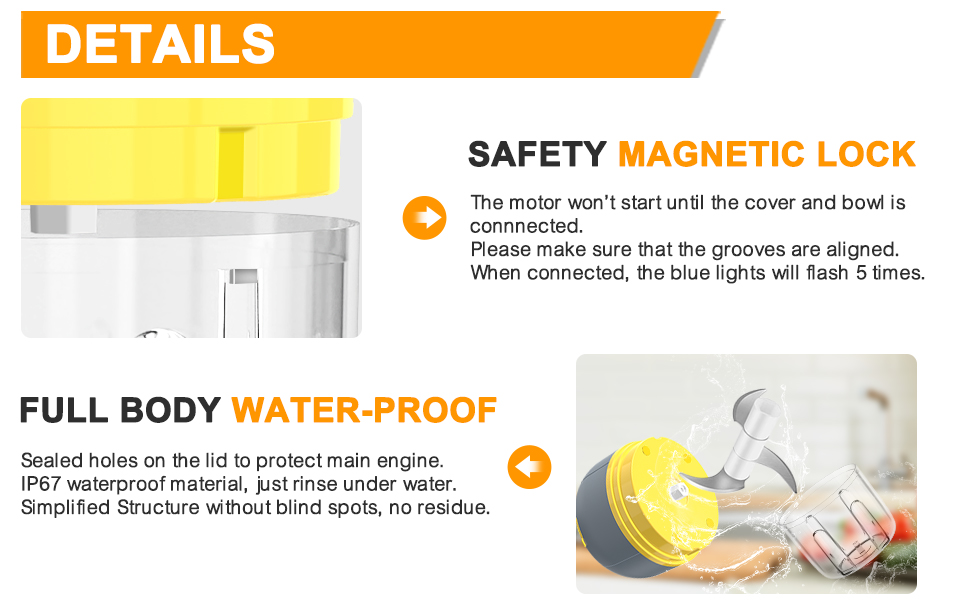 Safety lock and water proof body